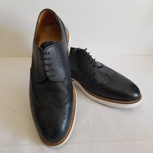 Zara Man Men's Navy Wingtip Oxfords EU 44 US 11